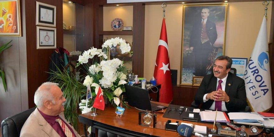 Nihat Sözütek ve yönetim kurulu üyeleri, Başkan Soner Çetin'i ziyaret etti
