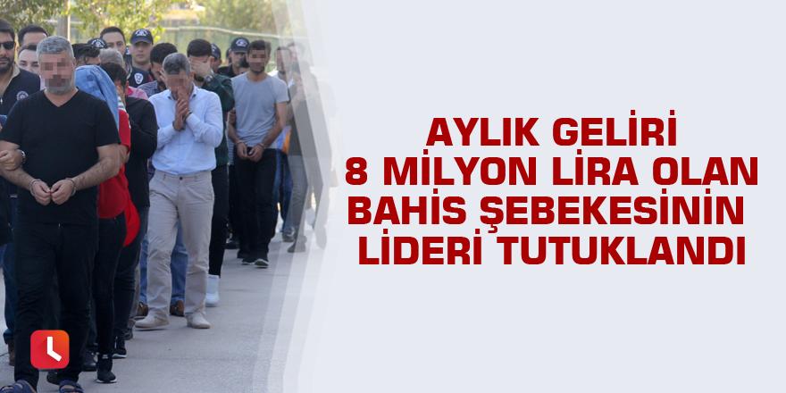 Aylık geliri 8 milyon lira olan bahis şebekesinin lideri tutuklandı
