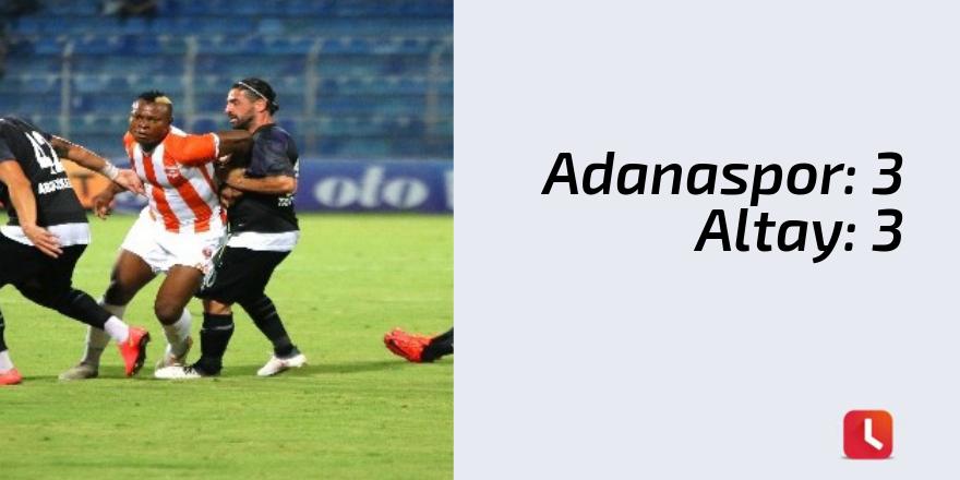 Adanaspor: 3 - Altay: 3
