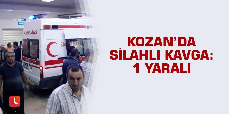 Kozan'da silahlı kavga: 1 yaralı