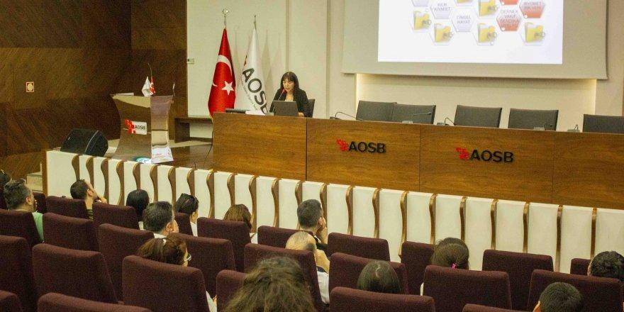 AOSB Akademi'de ''Kişisel Verileri Koruma Kanunu'' semineri