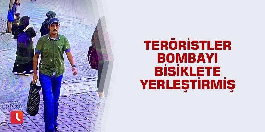 Teröristler bombayı bisiklete yerleştirmiş
