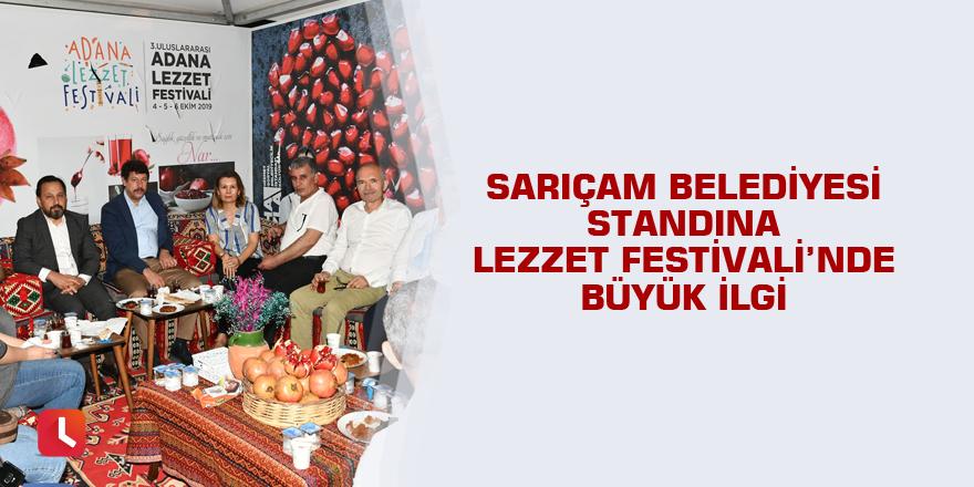 Sarıçam Belediyesi Standına Lezzet Festivali'nde büyük ilgi