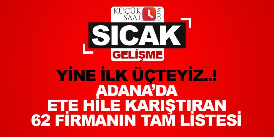 Adana, taklit ve tağşiş'te Türkiye'de ilk üçte