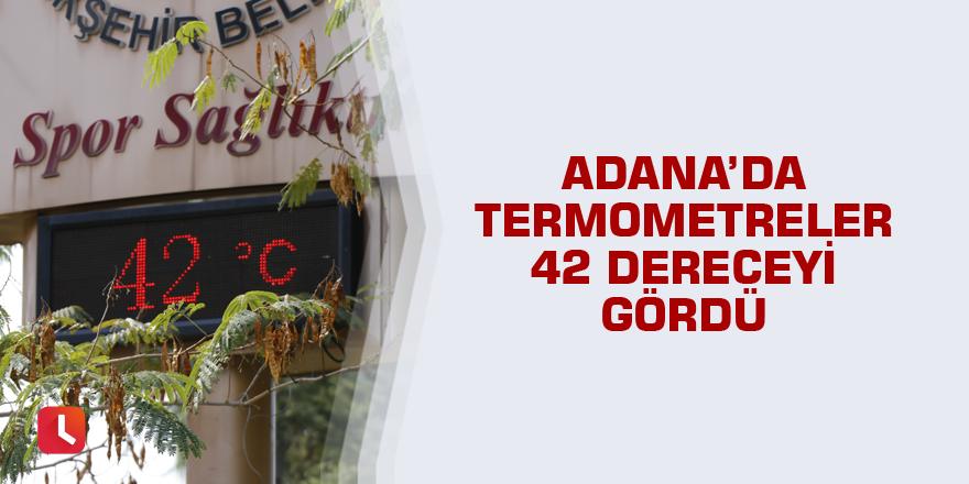 Adana'da termometreler 42 dereceyi gördü