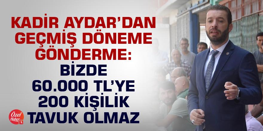 Aydar: Ceyhan Belediyesi oturarak yönetilmez