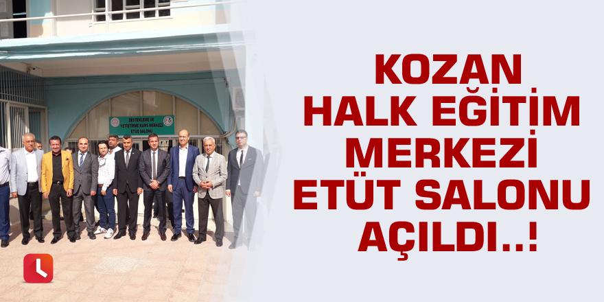 Kozan Halk Eğitim Merkezi etüt salonu açıldı..!