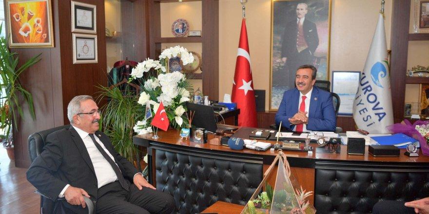 Osmaniye heyetinden Soner Çetin'e ziyaret