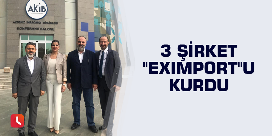 """3 şirket """"Eximport""""u kurdu"""