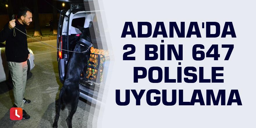 Adana'da 2 bin 647 polisle uygulama