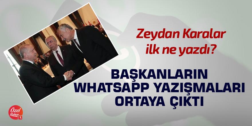 Başkanların WhatsApp yazışmaları ortaya çıktı