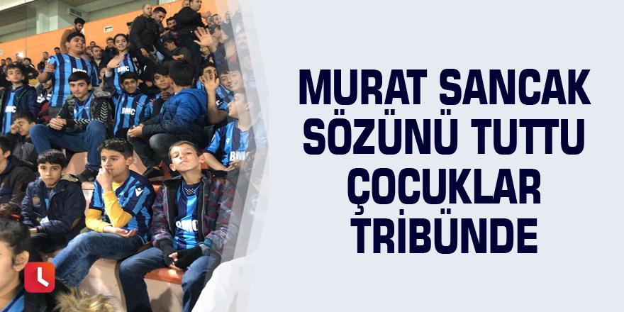 Murat Sancak çocukları sevindirdi