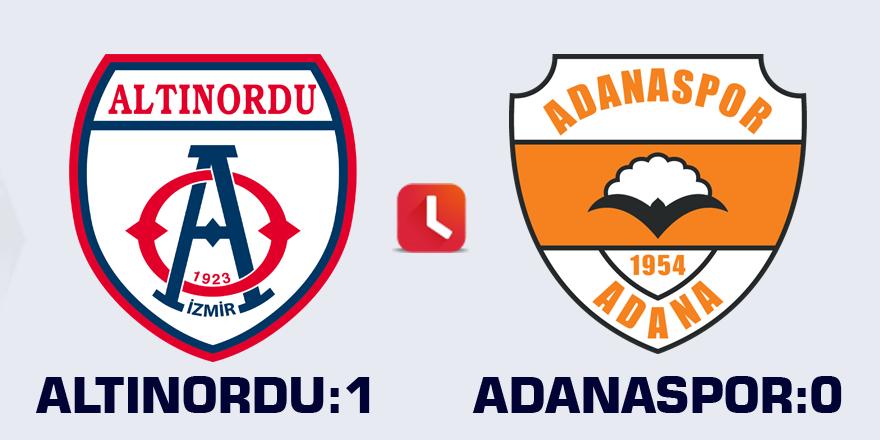 Altınordu: 1 - Adanaspor: 0