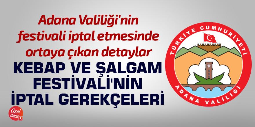 Kebap ve Şalgam Festivali'nin iptal gerekçeleri