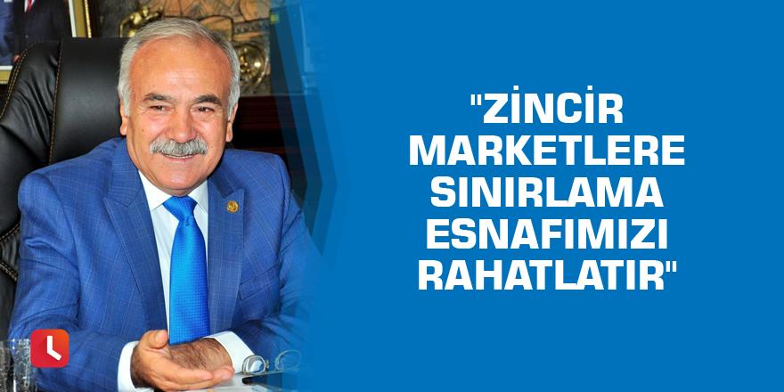 """""""Zincir marketlere sınırlama esnafımızı rahatlatır"""""""