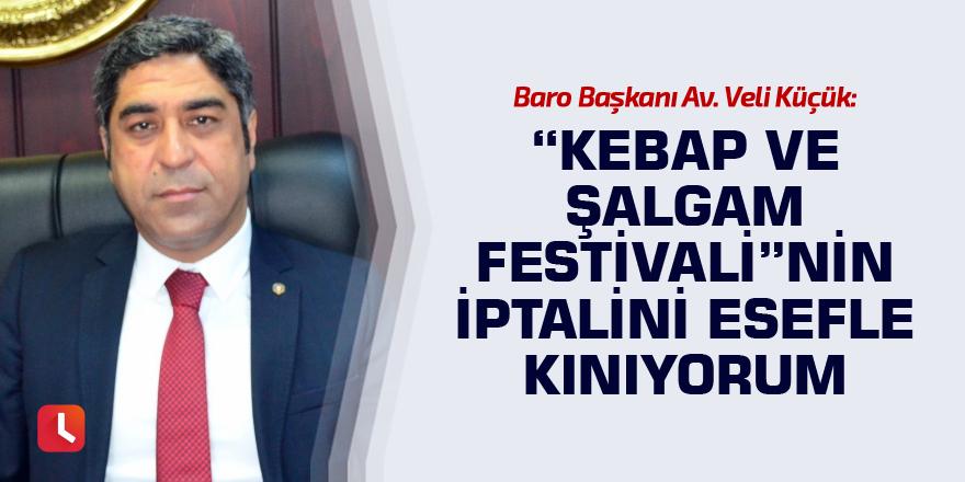 """Veli Küçük: Kebap ve Şalgam Festivali""""nin iptalini kınıyorum"""