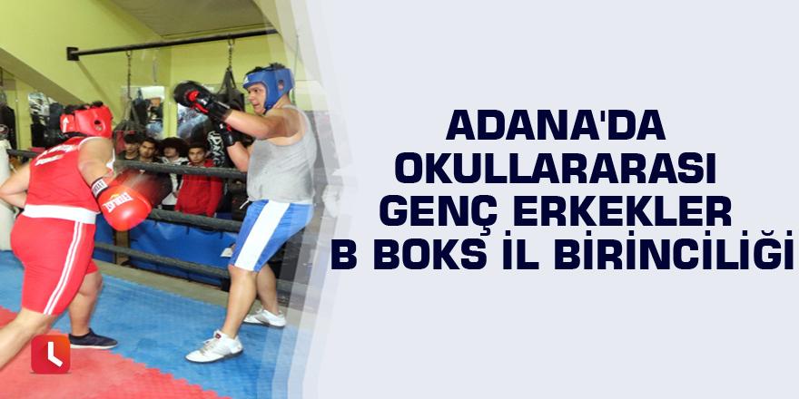Adana'da Okullararası Genç Erkekler B Boks İl Birinciliği