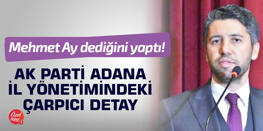 AK Parti Adana İl Yönetimindeki çarpıcı detay