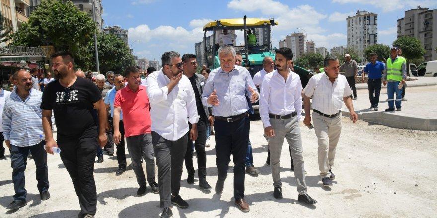 Türkmenbaşı Bulvarında asfalt onarımı ve kaplaması yapılıyor