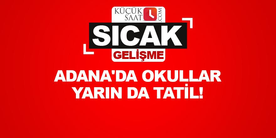 Adana'da okullar yarın da tatil