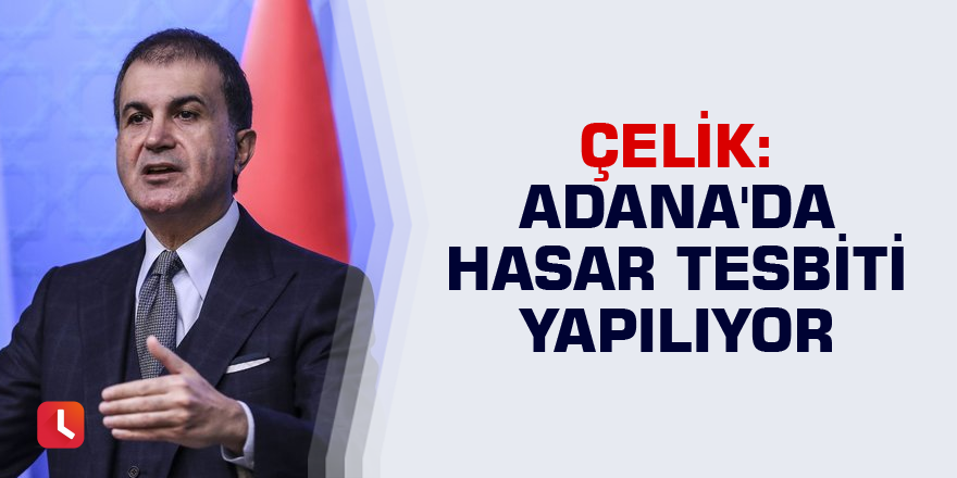 Çelik: Adana'da hasar tesbiti yapılıyor