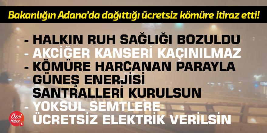 Adana'da dağıtılan ücretsiz kömür mahkemede!