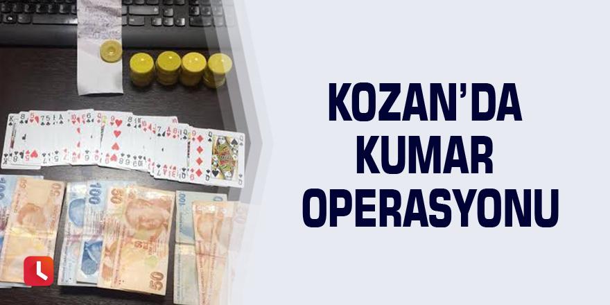 Kozan'da kumar operasyonu