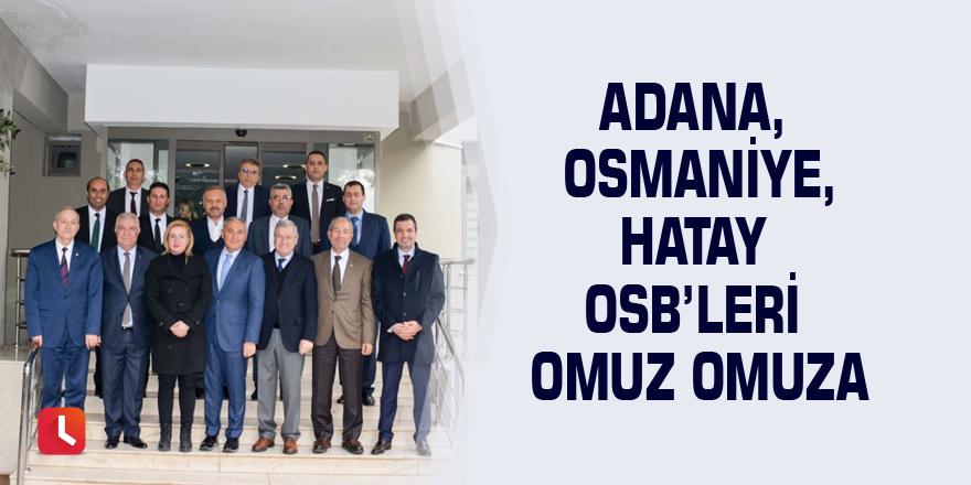 Adana, Osmaniye, Hatay OSB'leri omuz omuza