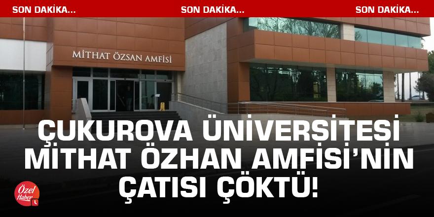 Mithat Özhan Amfisinin çatısı çöktü!