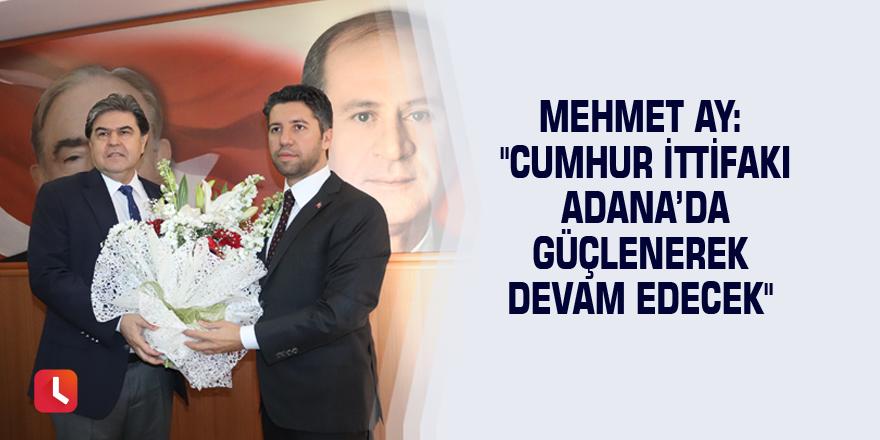 """Mehmet Ay: """"Cumhur İttifakı Adana'da güçlenerek devam edecek"""""""