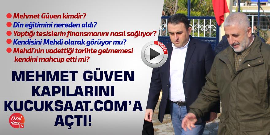 Mehmet Güven kapılarını kucuksaat.com'a açtı