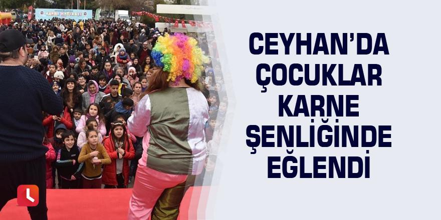 Ceyhan'da çocuklar karne şenliğinde eğlendi
