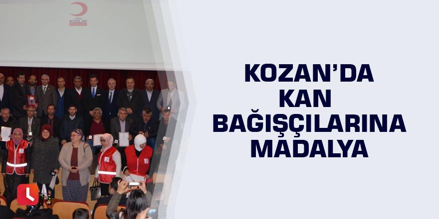 Kozan'da kan bağışçılarına madalya