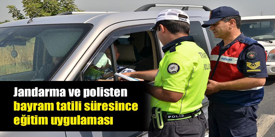 Polis ve jandarmadan trafik denetimi
