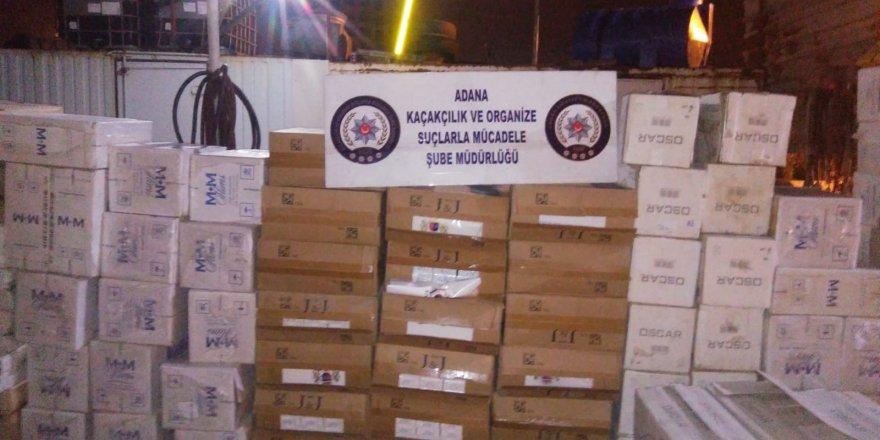 """Adana Sarıçam'da Zuladaki kaçak sigaraları """"Tiryaki"""" buldu"""