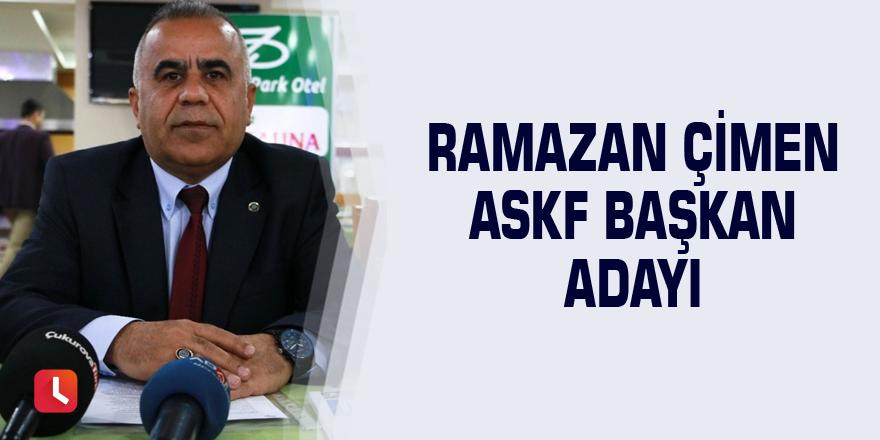 Ramazan Çimen ASKF başkan adayı