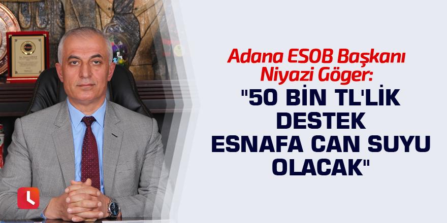 """50 bin TL'lik destek esnafa can suyu olacak"""