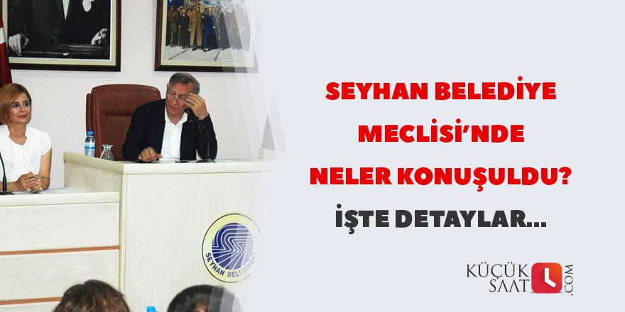 Seyhan Belediye Meclisi'nde neler konuşuldu?