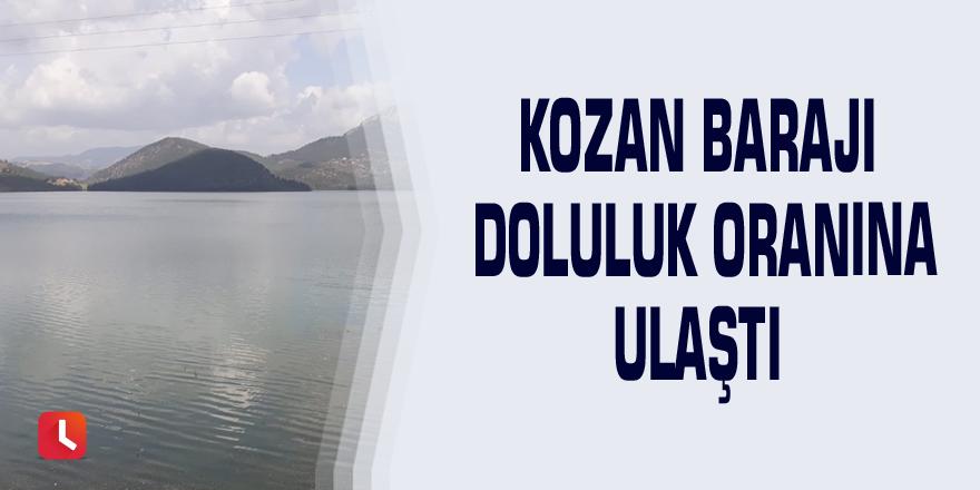 Kozan Barajı doluluk oranına ulaştı