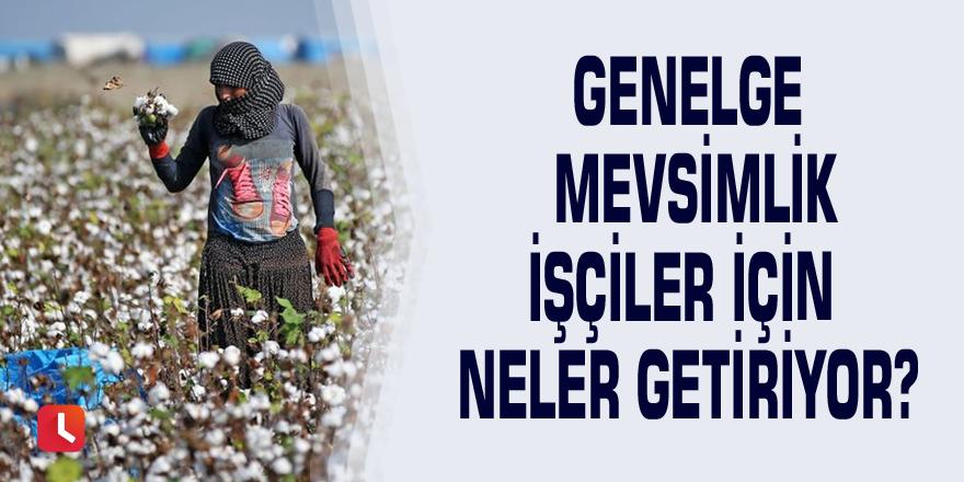 Genelge mevsimlik işçiler için neler getiriyor?
