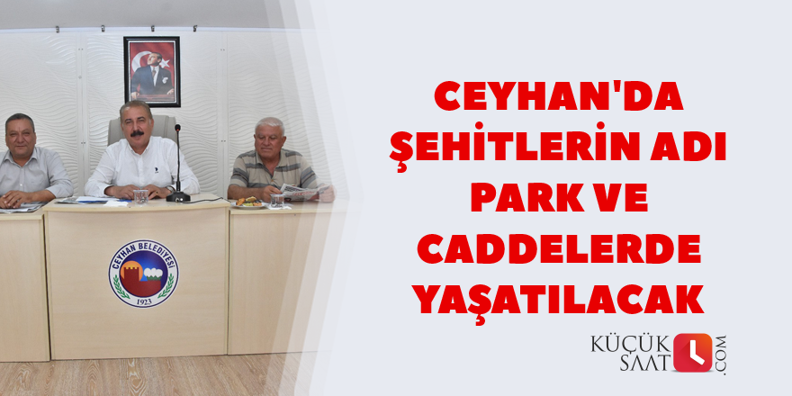 Ceyhan Belediye Meclisi'nden örnek davranış