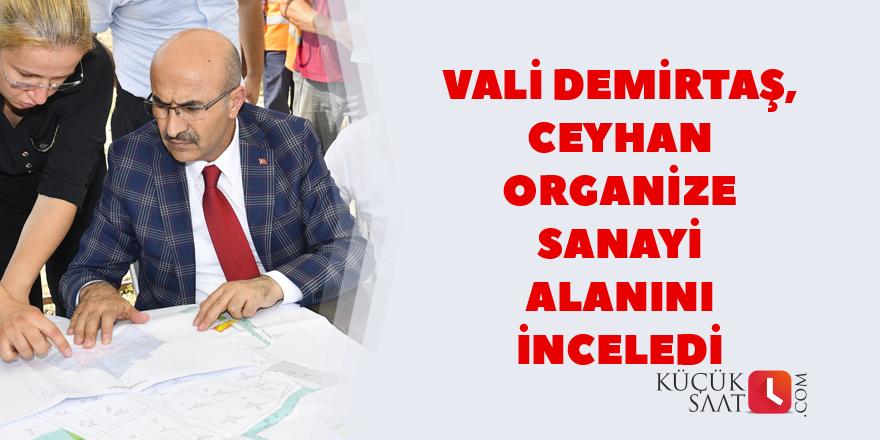 Vali Demirtaş, organize sanayi alanını inceledi