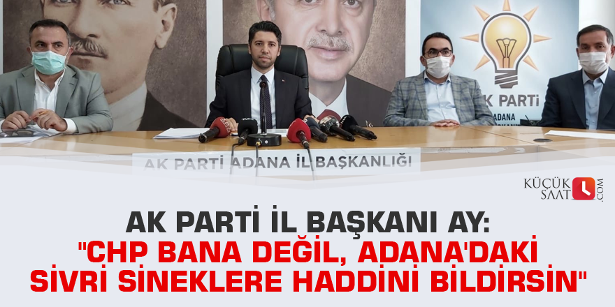 """""""CHP bana değil, Adana'daki sivri sineklere haddini bildirsin"""""""