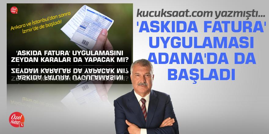 'Askıda Fatura' uygulaması Adana'da da başladı