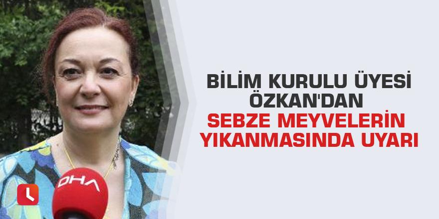 Bilim Kurulu Üyesi Özkan'dan sebze meyvelerin yıkanmasında uyarı