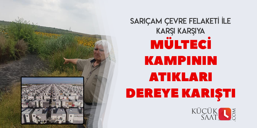 Sarıçam'da mülteci atıkları dereye karıştı