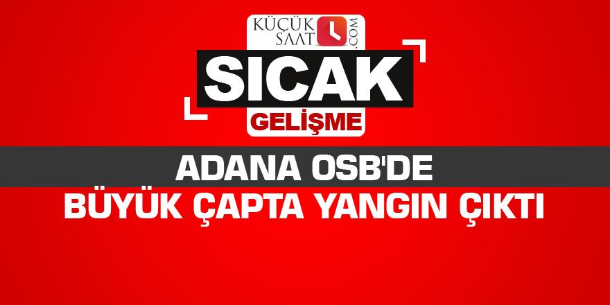 Adana OSB'de büyük çapta yangın çıktı