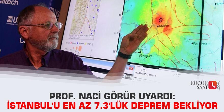 Prof. Naci Görür uyardı: İstanbul'u en az 7.3'lük deprem bekliyor