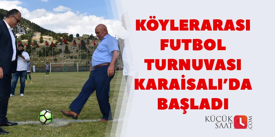 Köylerarası Futbol Turnuvası Karaisalı'da Başladı