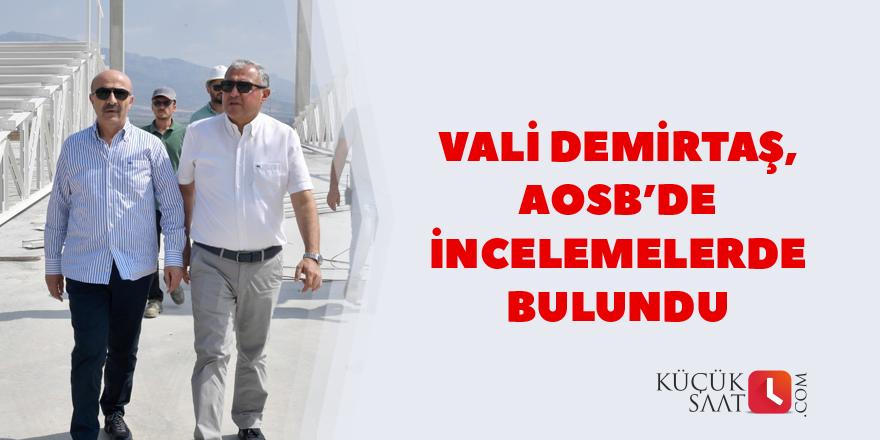 Vali Demirtaş, AOSB'de incelemelerde bulundu